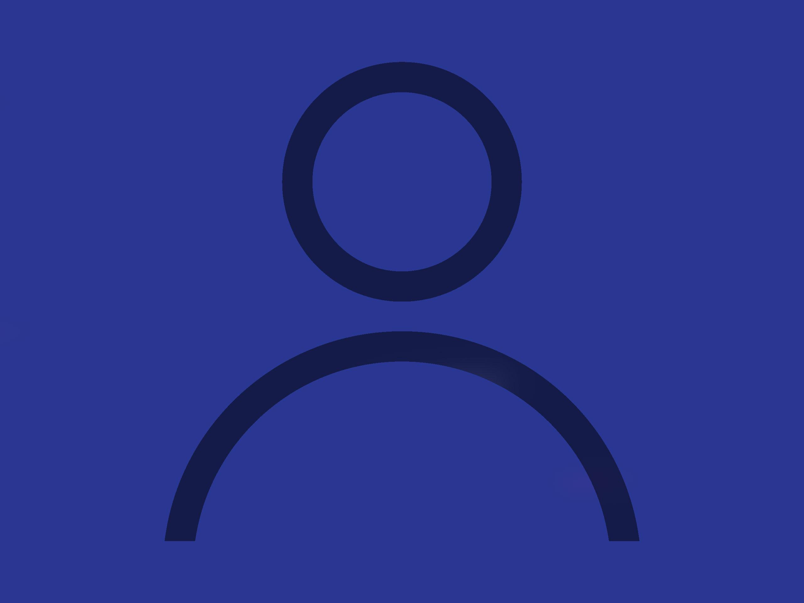 Personen Icon Blau